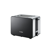 Bosch TAT7203 toaster 2 slice(s) 1050 W Black, Stainless steel