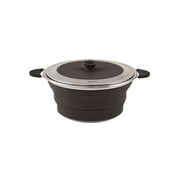 Outwell Collaps Pot 2.5 L Black, Stainless steel