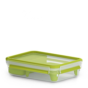 EMSA CLIP & GO Lunch container 1.2 L Polypropylene (PP), Thermoplastic elastomer (TPE) Green, Transparent 1 pc(s)