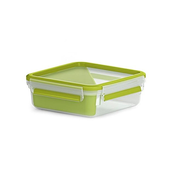 EMSA 518104 lunch box Lunch container 0.85 L Polypropylene (PP), Thermoplastic elastomer (TPE) Green, Transparent 1 pc(s)