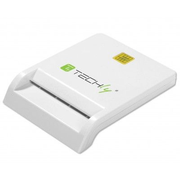 Techly Compact /Writer USB2.0 White I-CARD CAM-USB2TY smart card reader Indoor