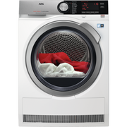 AEG T8DE86685 tumble dryer Freestanding Front-load 8 kg A+++ Stainless steel, White