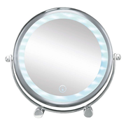 Kleine Wolke Bright Shorty makeup mirror Freestanding Round Chrome