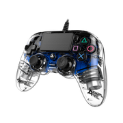NACON PS4OFCPADCLBLUE Gaming Controller Blue, Transparent Gamepad Analogue / Digital PlayStation 4