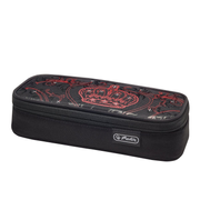 Herlitz Royalty Soft pencil case Polyester Black, Red