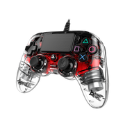 NACON PS4OFCPADCLRED Gaming Controller Red, Transparent Gamepad Analogue / Digital PlayStation 4