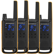 Motorola Talkabout T82 Extreme Quad Pack two-way radio 16 channels Black, Orange