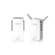 D-Link COVR-P2502/E PowerLine network adapter 1300 Mbit/s Ethernet LAN Wi-Fi Grey, White 2 pc(s)