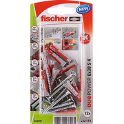 Fischer 534997 screw anchor / wall plug 12 pc(s) Screw & anchor kit 3 cm