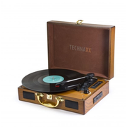 Technaxx TX-101 Belt-drive audio turntable Brown
