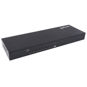 Manhattan 8-Port HDMI KVM Switch, Eight HDMI and Eight USB-B Ports, Full HD, set of eight HDMI-to-USB cables included (With Euro 2-pin plug), Box