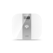 Caso Body Energy Rectangle Silver, White Electronic personal scale