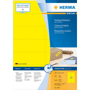 HERMA 4555 self-adhesive label Rectangle Yellow 1400 pc(s)