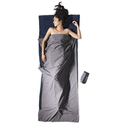 Cocoon TravelSheet Cotton Adult Rectangular sleeping bag Grey, Navy