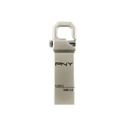 PNY Hook 3.0 USB flash drive 128 GB USB Type-A 3.2 Gen 1 (3.1 Gen 1) Silver