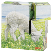 Goki Farm animals, cube puzzle