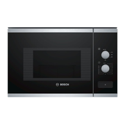 Bosch BFL520MS0 microwave Built-in Combination microwave 20 L 800 W Black, Stainless steel