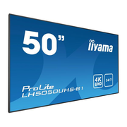 "iiyama LH5050UHS-B1 signage display Digital signage flat panel 127 cm (50"") LED 4K Ultra HD Black"