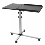 Techly Universal Adjustable Trolley for Notebook Projector, Black