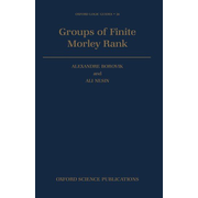 ISBN Groups of Finite Morley Rank book 426 pages