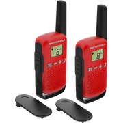 Motorola TALKABOUT T42 two-way radio 16 channels Black, Red