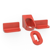 Cycloc Super Hero Indoor bicycle holder Wall-mounted Red