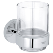 GROHE Essentials Glass Round Single Wall-mounted