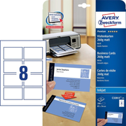 Avery Zweckform C32015-25 business card Inkjet Cardboard White 25 pc(s)