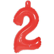 Folat Inflatable Number 2 Red