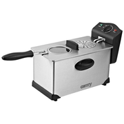 Camry CR 4909 Single 3 L Stand-alone 2000 W Hot air fryer Black, Satin steel
