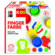 Marabu KiDS washable finger paint Blue, Green, Red, Yellow