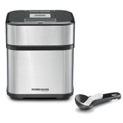 Rommelsbacher IM 12 ice cream maker Traditional ice cream maker 1.5 L Black, Stainless steel