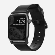 Nomad NM1A41BM00 smartwatch accessory Band Black Leather, Stainless steel
