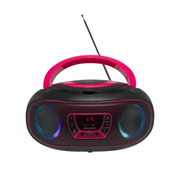 Denver TCL-212BT PINK CD-Player Tragbarer CD-Player Schwarz, Pink