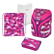 Herlitz Pink Cubes school bag set Girl Polyester