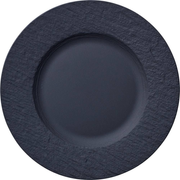Villeroy & Boch Manufacture Rock Dinner plate Round Porcelain Black 6 pc(s)