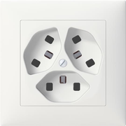 ABB WS12.TYB.0109 socket-outlet 3 x T23 White