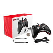 MSI FORCE GC20 Wired Pro Gaming Controller PC and Android 'PC and Android ready, adjustable D-Pad cover, Dual vibration motors, Ergonomic design, detachable cables'