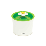 Catit Flower Fountain Plastic Green, White Cat Automatic pet waterer
