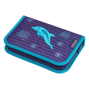 Herlitz Dolphin Soft pencil case Polyester Blue, Violet