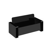 Wedo 63 4401 business card holder Acrylic Black