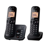 Panasonic KX-TGC222, DECT telephone, Wireless handset, Speakerphone, 50 entries, Caller ID, Black