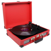 Soundmaster PL580 Belt-drive audio turntable Red