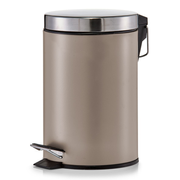 Zeller Present 18211 waste container Round Metal, Stainless steel Stainless steel, Taupe