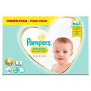 Pampers Premium Protection Size 4, Nappy x78, 9kg-14kg