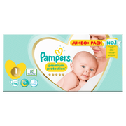 Pampers Premium Protection Size 1, Nappy x96, Monthly Saving, 2kg-5kg