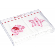 Coppenrath 14056 baby towel Pink, White Cotton 2 pc(s)
