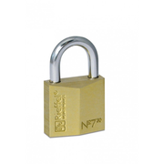 Rieffel 7/30, Conventional padlock, Key lock, Brass,Stainless steel, Brass, Steel, U-shaped