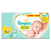 Pampers Premium Protection Size 1, Nappy x96, 2kg-5kg