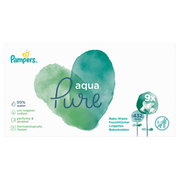 Pampers Baby Wipes Aqua Pure 9 Packs = 432 Wipes